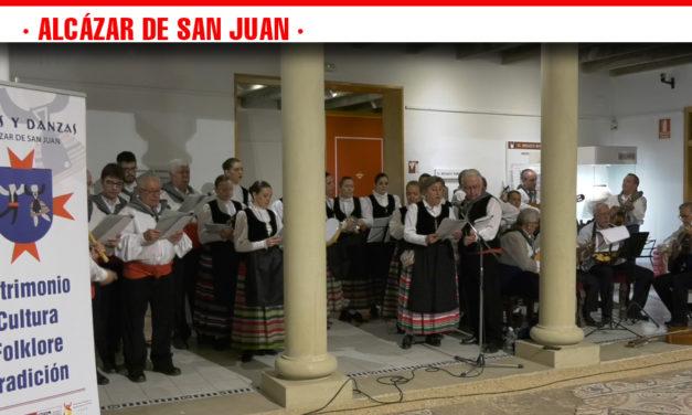 Presentación del cartel, exposición y percusión en la presentación del LV Festival Internacional de Folklore  de la   Asociación de Coros y Danzas
