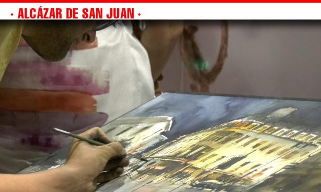 Distintos artistas se han dado cita en Alcázar de San Juan para participar en el XIX Certamen Nacional de Pintura Rápida 'Ángel Lizcano'