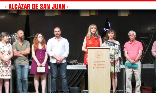 El pregón de la periodista alcazareña Betsabé Alhambra da comienzo a las fiestas populares del Barrio de El Porvenir