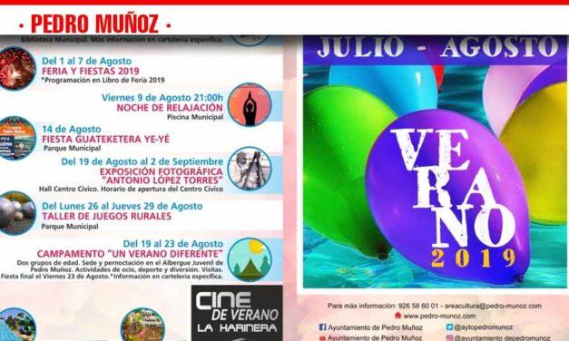 Pedro Muñoz se prepara para el verano con una amplia programación