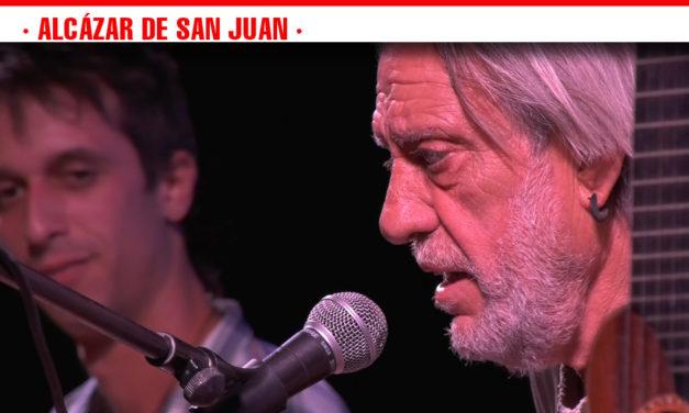 Reivindicación y compromiso social y político, inundan el concierto del cantautor Luis Pastor en el último Escenario de Verano de Alcázar de San Juan