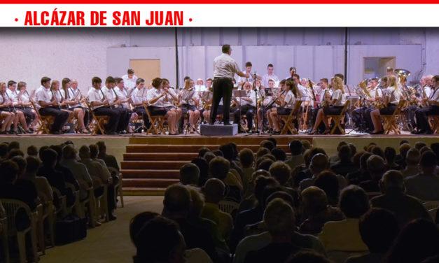 El XXXII Festival Nacional de Bandas de Música pone el broche de oro a la programación musical de los Escenarios de Verano de Alcázar de San Juan