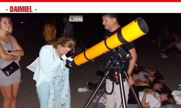 La Asociación Daimieleña de Astronomía realizó el sábado una nueva observación de las conocidas como 'Lágrimas de San Lorenzo'.