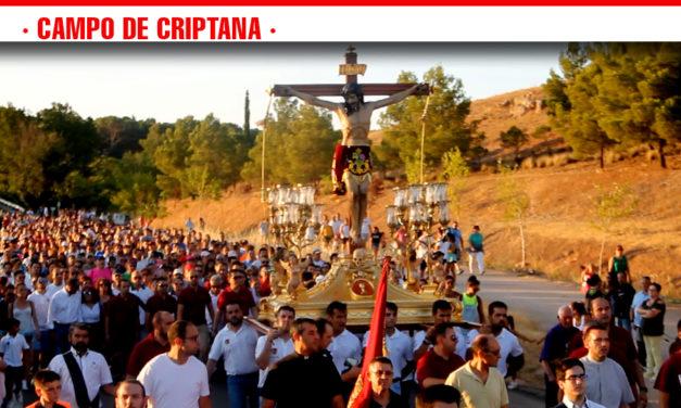 """""""El jueves del Cristo"""" los criptanenses acompañan al Santísimo Cristo de Villajos en """"La Traída"""" desde su santuario hasta Campo de Criptana"""