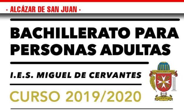 El IES Cervantes ofrece Bachillerato para personas adultas con horario nocturno