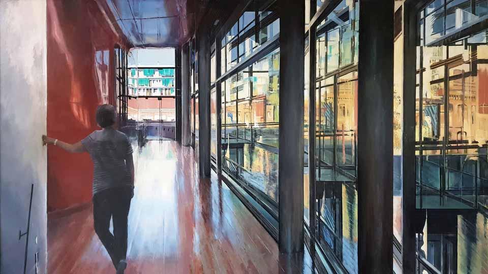 Pintura Ciudad de Manzanares 1