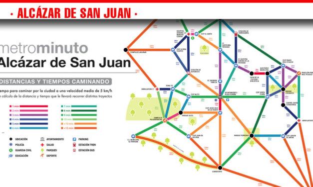 Alcázar de San Juan cuenta desde hoy con su Metrominuto y pasa a formar parte de las 45 poblaciones que conforman la Red de Ciudades que Caminan