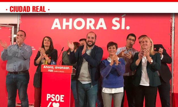Los candidatos del PSOE eligen Puertollano para cerrar la campaña electoral
