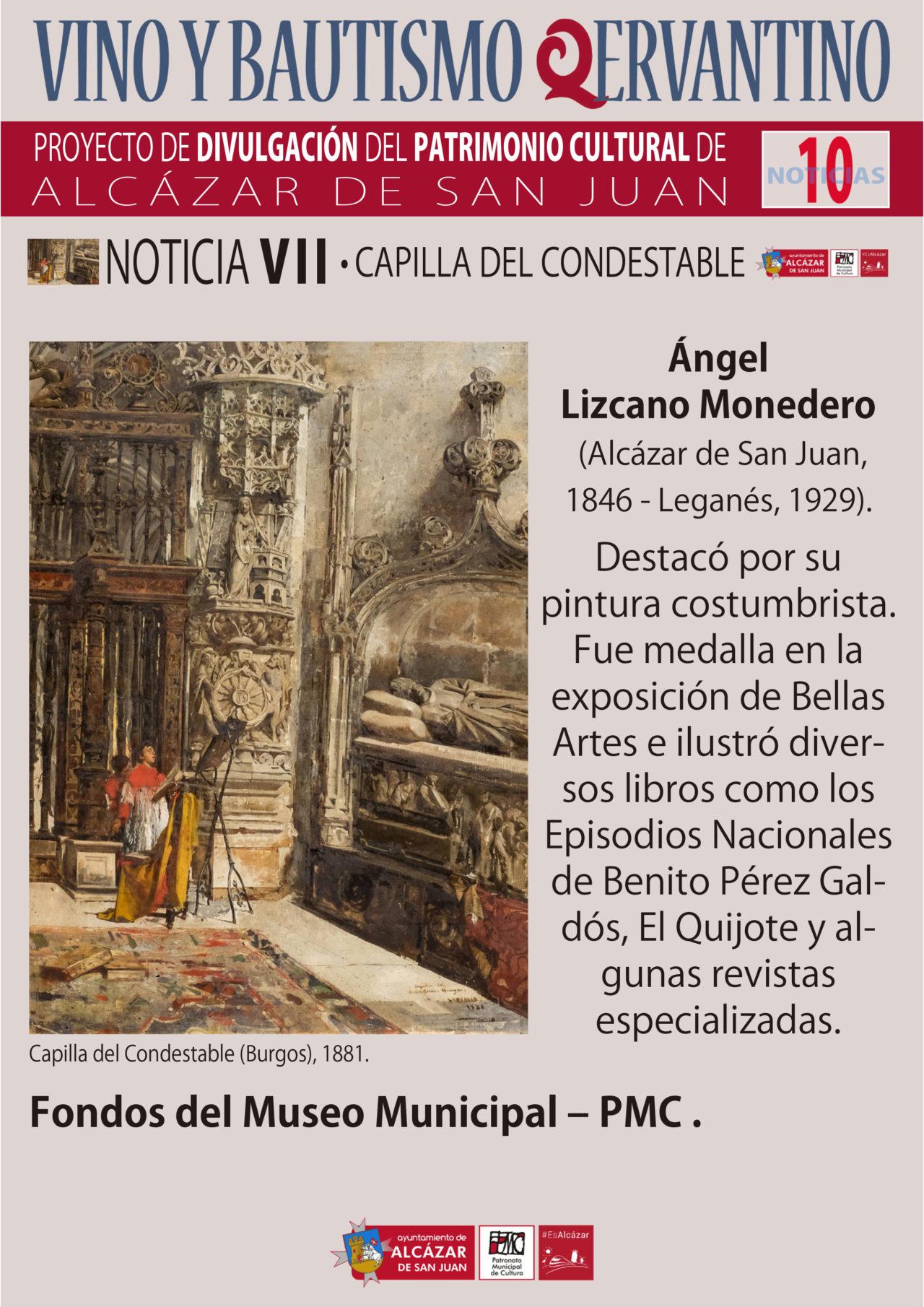 Obra del pintor Ángel Lizcano Monedero y fotografía noticia VII