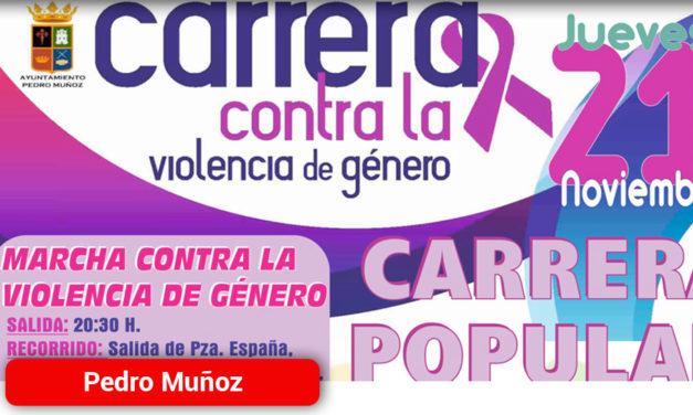 Pedro Muñoz marchará contra la Violencia de Género el Día 21 de Noviembre