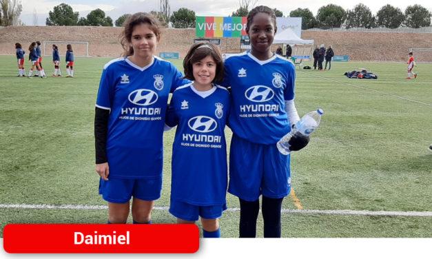 Tres jugadoras daimieleñas en la selección provincial de fútbol – 8 femenino alevín