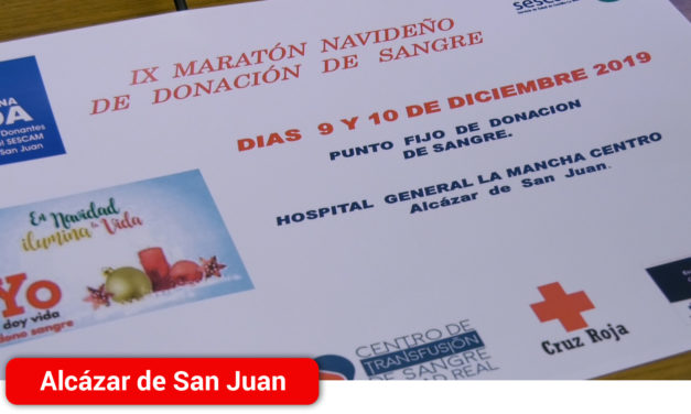 Los días 9 y 10 de diciembre tendrá lugar el IX Maratón de Donación de Sangre