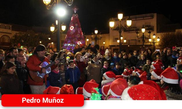 Con el encendido de luces la Navidad empieza en Pedro Muñoz