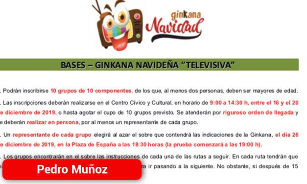 Comienza la inscripción para la Gran Ginkana Navideña de Pedro Muñoz del 26 de Diciembre
