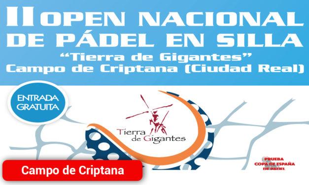 II Open Nacional de Pádel en Silla organizado por la Asociación ASMICRIP
