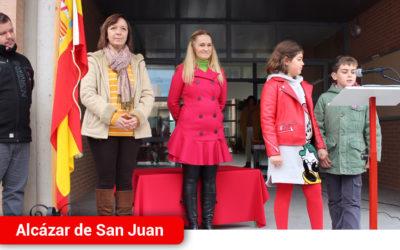 El colegio Jardín de Arena realiza un homenaje a la bandera con motivo del Día de la Constitución