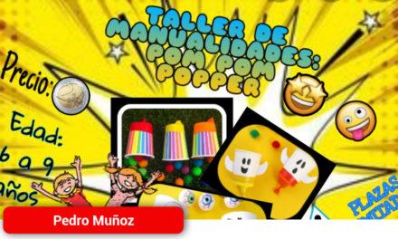 Nuevo taller para la tarde del Sábado 18 en el Centro Juvenil de Pedro Muñoz