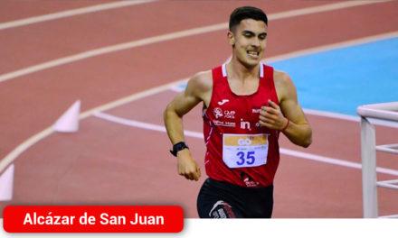 El atleta alcazareño Rubén Monreal logra la mínima nacional y competirá en el Campeonato de España sub-23 en pista cubierta que se celebra en Salamanca