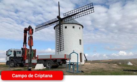 El Ayuntamiento acomete la rehabilitación de las aspas del Molino Inca Garcilaso
