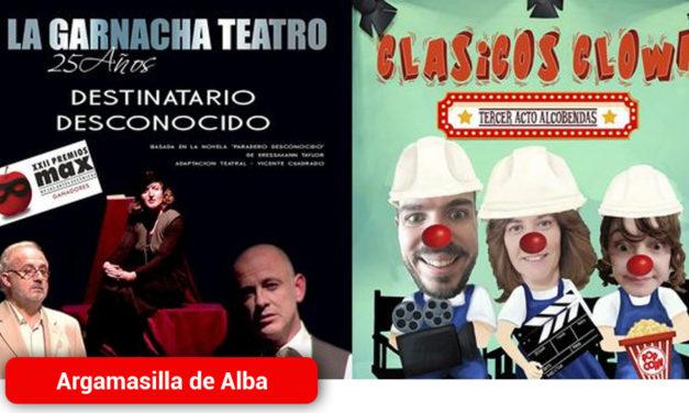 Doble jornada de teatro este fin de semana en Argamasilla de Alba