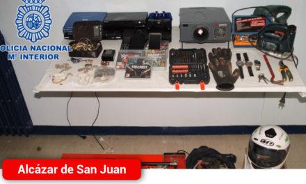 La Policía Nacional detiene a los autores de cinco robos con fuerza en viviendas