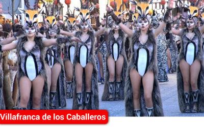 Más de 1.300 personas en el Gran Desfile de Carrozas y Comparsas visitantes del Carnaval de Villafranca de los Caballeros