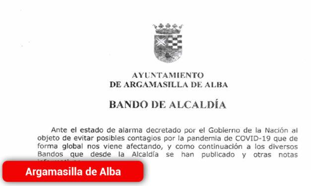 Bando de Alcaldía comunicando el cierre del mercadillo