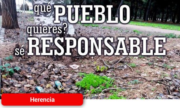 Herencia pone en marcha tres campañas de limpieza para concienciar y sensibilizar a la población