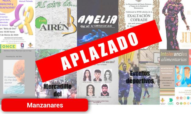 El Ayuntamiento de Manzanares suspende los actos municipales de los próximos días