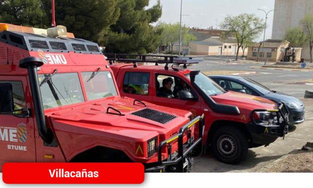 Militares de la UME visitan Villacañas para informar a la población sobre el Estado de Alarma