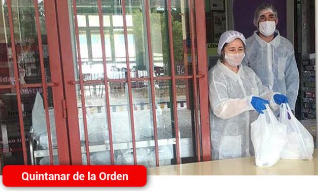 Quintanar continúa repartiendo los menús del comedor escolar al alumnado becado