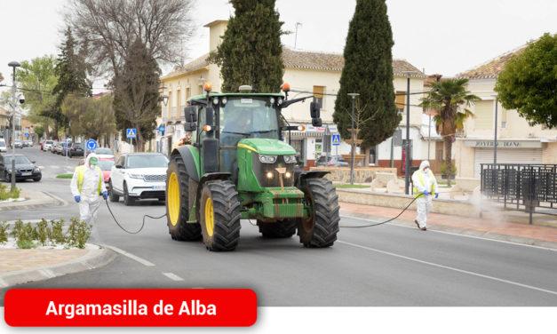 El Ayuntamiento de Argamasilla de Alba comienza las tareas de desinfección contra el COVID-19