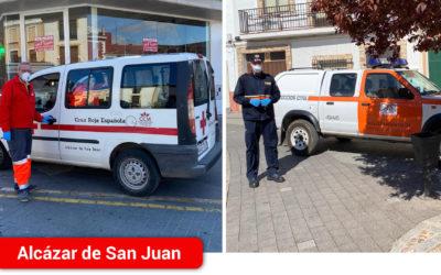 El ayuntamiento de Alcázar, a través del voluntariado de Protección civil y Cruz Roja, reparte a domicilio las medicinas de la farmacia hospitalaria para enfermos crónicos