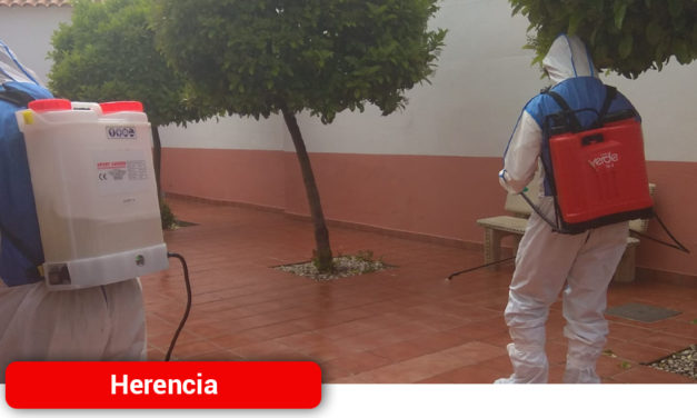 Herencia amplia y refuerza el servicio de desinfección del municipio y aúna esfuerzos con Geacam en la desinfección de residencias de mayores.