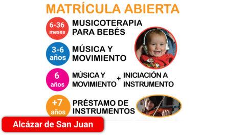 Abierto el plazo de matrícula de la Escuela Municipal de Música