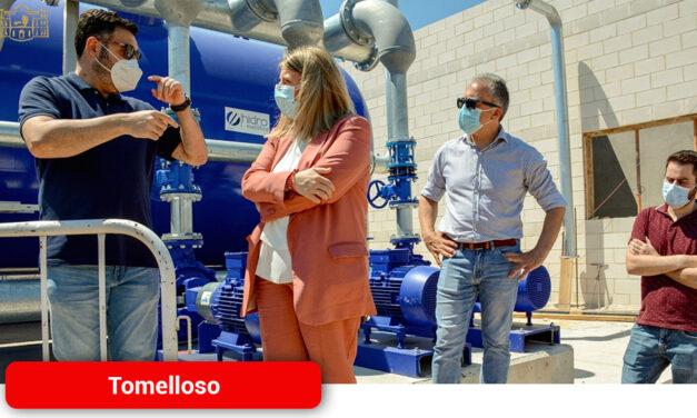 La Alcaldesa y el concejal de Obras visitan las obras de la nueva Estación de Tratamiento de Agua Potable que estará en funcionamiento a finales de año