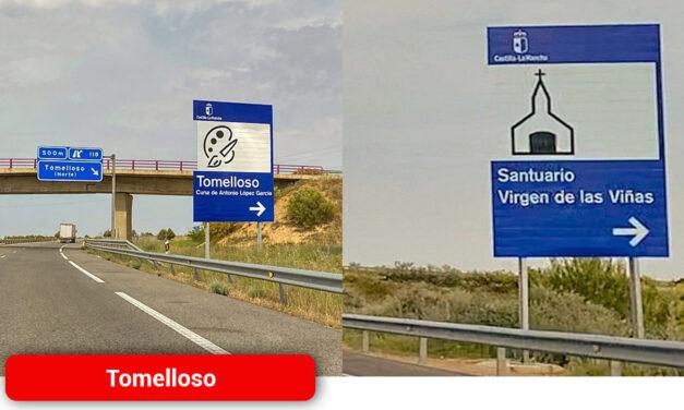 El Ayuntamiento refuerza el interés del municipio con nueva señalización en la autovía de Los Viñedos