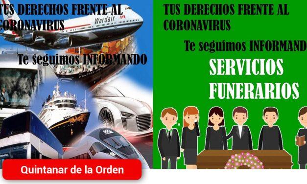 La OMIC de Quintanar informa sobre las medidas a tomar respecto a diversos servicios en el estado de alarma