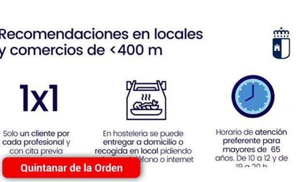 El Ayuntamiento recuerda las recomendaciones a seguir en establecimientos y locales al continuar el municipio en la Fase 0
