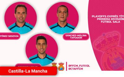 Tres árbitros castellanomanchegos para los playoffs por el título de fútbol sala