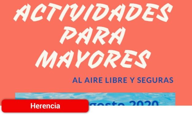 El Centro de Mayores de Herencia retoma la actividad con talleres al aire libre y cumpliendo las medidas sanitarias