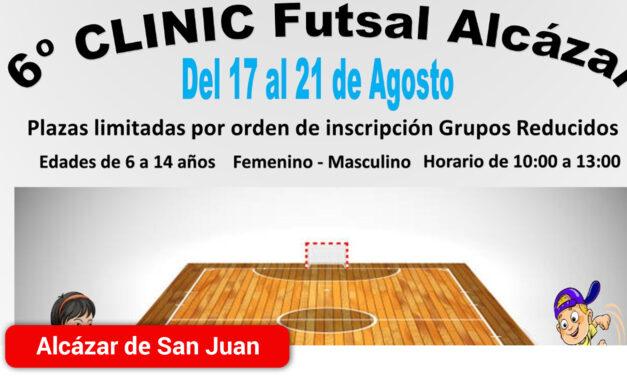 Abierto el plazo de inscripción para el 6º Clínic de Futsal Alcázar que se celebrará del 17 al 21 de agosto