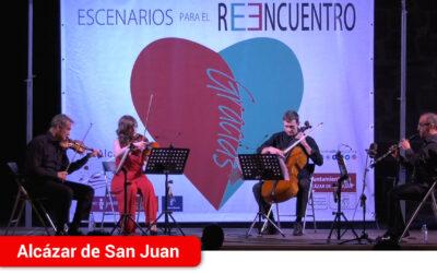 Oboe Quartet MBMA recupera la música de cámara en el idílico entorno de la Plaza de Santa María en los Escenarios para el Reencuentro