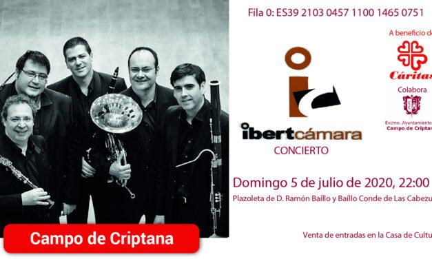 El Quinteto de viento Ibertcámara arranca la programación cultural veraniega en la Villa de los Molinos
