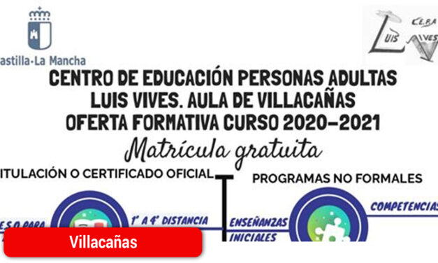 Abierta la matrícula para el curso 2020-2021 en el Aula de Adultos
