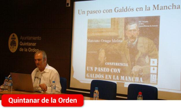 Marciano Ortega ofrece una interesante conferencia sobre Benito Pérez Galdós