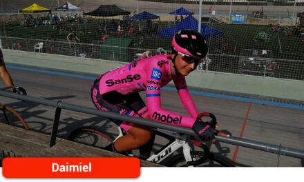 La daimieleña María García-Consuegra, en el Campeonato de España de Ciclismo en Pista