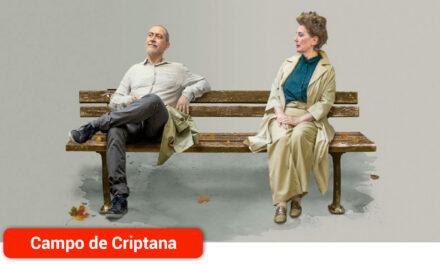 Los conocidos actores Isabel Ordaz y Santiago Molero en la obra 'El Beso' este viernes en el Teatro Cervantes