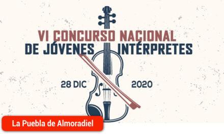 El VI Concurso nacional de jóvenes intérpretes se celebrará en Diciembre de 2020
