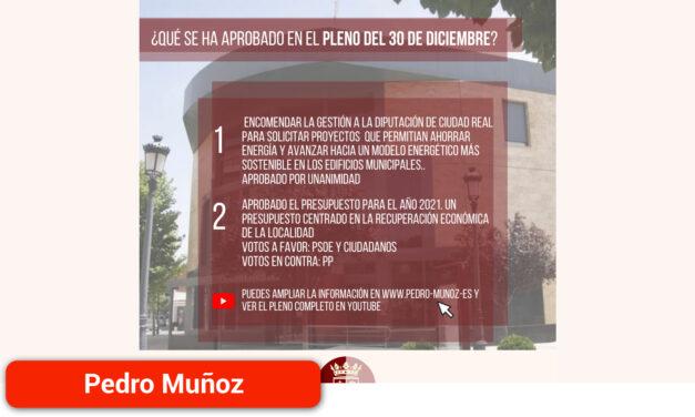 El municipio contará con un presupuesto para el 2021 centrado en la recuperación económica